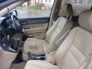 HONDA CRV EX mk3 07-12 CREAM / BEIGE LEATHER INTERIOR SEATS GOOD CONDITION