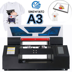 DTG Printer Direct To Garment T-Shirt Personal DIY A3 Flatbed Printer with Mold
