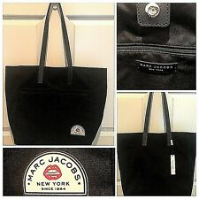 Marc Jacobs Large Canvas Tote SHOPPER Bag in Black W/ Red Lips Logo