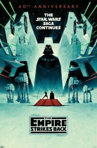 THE EMPIRE STRIKES BACK - 40TH ANNIVERSARY POSTER - 22x34 - STAR WARS 19316
