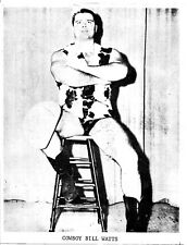 COWBOY BILL WATTS AWA NWA WWWF WRESTLING ORIGINAL METAL PRINTING PLATE 1970'S