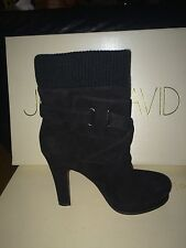Joan & David Suede black boots 7,5 size