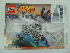 LEGO 75106 Imperial Assault Carrier Instruction Manual and Decals ONLY 2015