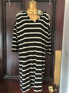 Biba Costume Drama Black & Gold Dress BNWT Size 14 Stunning!