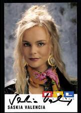 Saskia Valencia RTL Autogrammkarte Original Signiert ## BC 25849