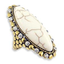 Strasssteine Modeschmuck-Ringe aus Gelbgold