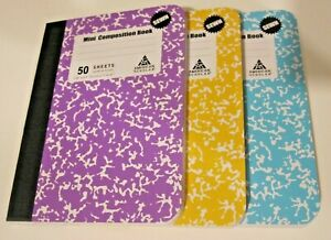 """American Scholar 50-Sheet Mini Composition Notebooks, 3 Count, 4.5"""""""