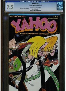 YAHOO #2 CGC 7.5 FANTAGRAPHIC BOOK 1989 JOE SACCO COVER ART STORY OWTW PAGES