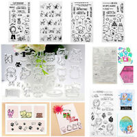 Cute Transparent Silicone Clear Rubber Stamp Sheet Cling Scrapbooking Card Craft