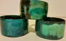 Buffalo Horn blue green laquered Bangle bracelet