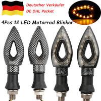 4X 12LED Motorrad Blinkleuchte Mini Blinker Lampe Universal für Quad Roller 10MM