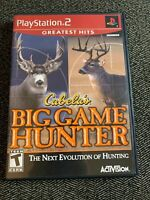 CABELA'S BIG GAME HUNTER GREATEST HITS - PS2 - COMPLETE W/MANUAL - FREE S/H (Z)