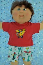 """Play n Wear Boys Dolls Clothes For 16"""" Cabbage Patch PATTERN SHORTS~T-SHIRT"""