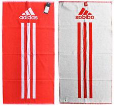 2 Stück adidas Towel Handtuch Badetuch rot Fitness Sport S 50 x 100 cm F51249