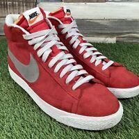 UK11 Nike Blazer Mid Premium Vintage Trainers - Red Suede - 538282-603 - EU46