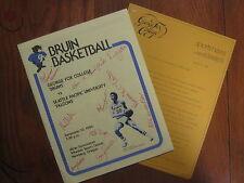 1980 GEORGE FOX College Bruins Men's Basketball Program(10 Signers(PHIL BARNHART