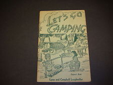 Let's Go Camping Camping & Christian Growth Book 1953 Loughmiller S3512