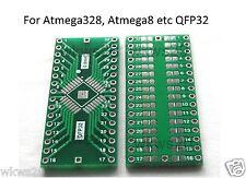 TQFP/QFP 32 0.8mm to DIP PCB Adapter arduino Atmega328 atmega8 SMD AVR STM32