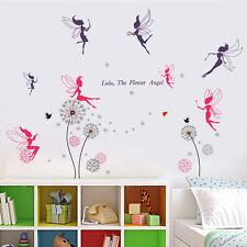 Autocollant mural fées rose salon Pissenlit Murale Decal Papier Art Décoration