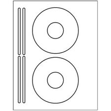 200 CD or DVD labels - 2 labels & 4 spines per sheet - USA Made - 5931 Template