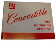 1967 Oldsmobile Convertible Top Operation Manual NEW!
