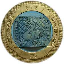 INVERTED SWAN STAMP $75 GOLD TITANIUM -RARE- PROOF COIN 2005