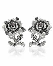 ED HARDY Lovely Stud Rose W/Created Ruby Earrings Made in Stainless steel.