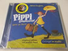 38283 - PIPPI LANGSTRUMPF GEHT AN BORD - HÖRBUCH 2CD SET - NEU (JOSEFINE PREUSS)