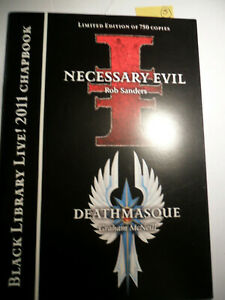Black Library rare Limited edition 2011 Chapbook Necessary Evil Deathmasque