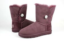 UGG AUSTRALIA WOMENS BOOTS BAILEY BUTTON BLING PORT SIZE 8 US