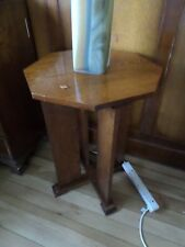 Unusual octagonal Oak side table/occassional table