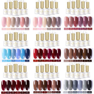 BORN PRETTY 6Colors/Set Soak Off Gel Nail Polish UV LED Lamp Top Base Coat Tool