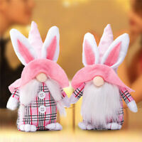 Easter Rabbit Gnome Bunny Nordic Gonk Tomte Plush Toy Doll Ornaments Kids Gifts
