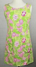 Lilly Pulitzer Size Med. Shift Dress Stretchy Sleeveless Animal Print Pink Green