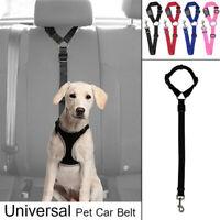 Adjustable Dog Seat Belt Dog Harness Pet Car Safety Seat Belt Leash Leads