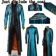 Hot Cakes Devil May Cry 3 DMC3 Vergil cosplay Costume Long Coat Top Jacket