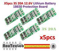 5pcs 3S 20A 12.6V Li-ion Lithium 18650 BMS PCM Battery Protection Board