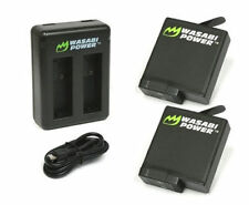 Wasabi Power 1220mah Battery (v03) X 2 Dual USB Charger for GoPro Hero5 Black