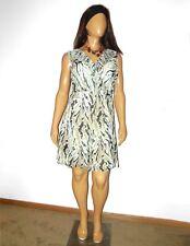NWT $139 DKNY tan brown faux wrap sleeveless lightweight fall dress 1X 18w
