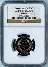 2006 CANADA NGC MS67 MEDAL OF BRAVERY QUARTER 25C! AWESOME COIN!