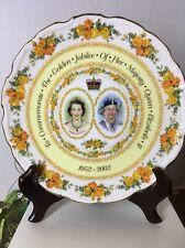 """Queen Elizabeth II Golden Jubilee PLATE 8 ¼"""" Diameter Royal Albert Bone China"""