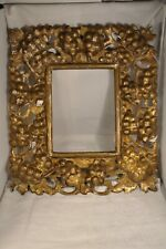 CADRE RUSSE ANCIEN BOIS DORE ANTIQUE RUSSIAN CARVED WOOD FRAME