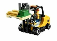 Genuine Lego City Cargo Train 60198 Forklift With Driver Minifigure And Pallet