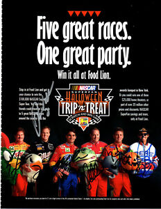NASCAR Halloween original hand signed autographed advert