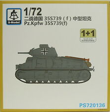 Pz.Kpfw.35 S 739(f) , 1/72, S-Model ,Double pack, Plastik, NEU
