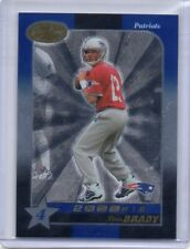 2000 LEAF CERTIFIED MATERIALS TOM BRADY ROOKIE 4 STAR RC SP /1500 #207 PATRIOTS