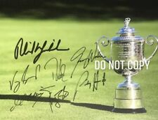 PGA Championship Trophy Golf 11x14 Photograph 7 Signatures