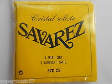 Savarez 570CS Crystal Soliste Yellow Hard Tension Classical Guitar Nylon Strings