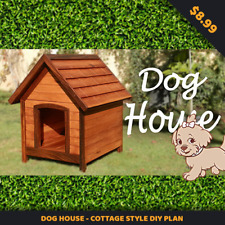 Dog House - Cottage Style DIY Plan - INSTANT DELIVERY