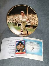 Rogers Hornsby The .424 Season Delphi Collector Plate & Card Baseball Legends